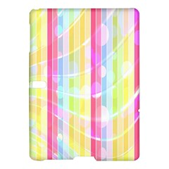 Abstract Stipes Colorful Background Circles And Waves Wallpaper Samsung Galaxy Tab S (10.5 ) Hardshell Case