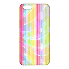 Abstract Stipes Colorful Background Circles And Waves Wallpaper iPhone 6/6S TPU Case