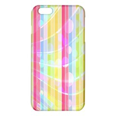 Abstract Stipes Colorful Background Circles And Waves Wallpaper iPhone 6 Plus/6S Plus TPU Case