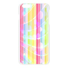 Abstract Stipes Colorful Background Circles And Waves Wallpaper Apple Seamless iPhone 6 Plus/6S Plus Case (Transparent)