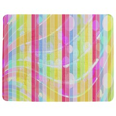 Abstract Stipes Colorful Background Circles And Waves Wallpaper Jigsaw Puzzle Photo Stand (Rectangular)
