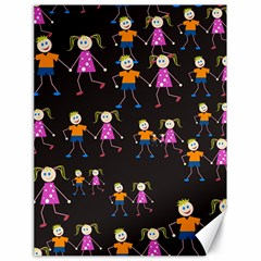Kids Tile A Fun Cartoon Happy Kids Tiling Pattern Canvas 18  x 24
