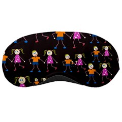 Kids Tile A Fun Cartoon Happy Kids Tiling Pattern Sleeping Masks