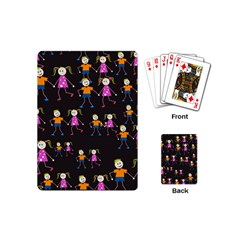 Kids Tile A Fun Cartoon Happy Kids Tiling Pattern Playing Cards (Mini)
