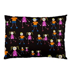 Kids Tile A Fun Cartoon Happy Kids Tiling Pattern Pillow Case (Two Sides)