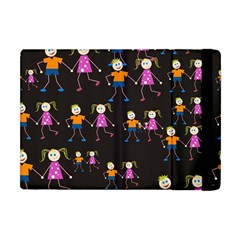 Kids Tile A Fun Cartoon Happy Kids Tiling Pattern Apple Ipad Mini Flip Case