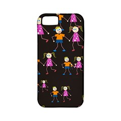Kids Tile A Fun Cartoon Happy Kids Tiling Pattern Apple iPhone 5 Classic Hardshell Case (PC+Silicone)