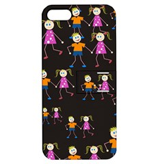 Kids Tile A Fun Cartoon Happy Kids Tiling Pattern Apple iPhone 5 Hardshell Case with Stand