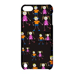 Kids Tile A Fun Cartoon Happy Kids Tiling Pattern Apple Ipod Touch 5 Hardshell Case With Stand