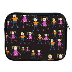 Kids Tile A Fun Cartoon Happy Kids Tiling Pattern Apple Ipad 2/3/4 Zipper Cases