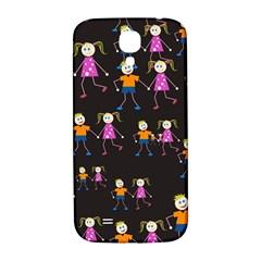 Kids Tile A Fun Cartoon Happy Kids Tiling Pattern Samsung Galaxy S4 I9500/I9505  Hardshell Back Case