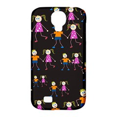 Kids Tile A Fun Cartoon Happy Kids Tiling Pattern Samsung Galaxy S4 Classic Hardshell Case (pc+silicone)
