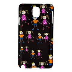 Kids Tile A Fun Cartoon Happy Kids Tiling Pattern Samsung Galaxy Note 3 N9005 Hardshell Case