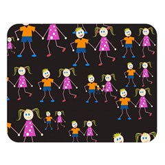 Kids Tile A Fun Cartoon Happy Kids Tiling Pattern Double Sided Flano Blanket (large)