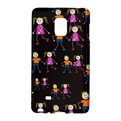 Kids Tile A Fun Cartoon Happy Kids Tiling Pattern Galaxy Note Edge
