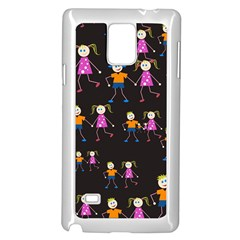 Kids Tile A Fun Cartoon Happy Kids Tiling Pattern Samsung Galaxy Note 4 Case (white)