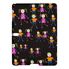 Kids Tile A Fun Cartoon Happy Kids Tiling Pattern Samsung Galaxy Tab S (10 5 ) Hardshell Case