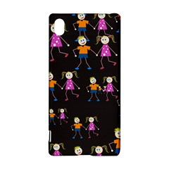 Kids Tile A Fun Cartoon Happy Kids Tiling Pattern Sony Xperia Z3+
