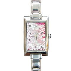 Fluorescent Flames Background With Special Light Effects Rectangle Italian Charm Watch