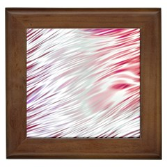 Fluorescent Flames Background With Special Light Effects Framed Tiles