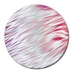 Fluorescent Flames Background With Special Light Effects Round Mousepads