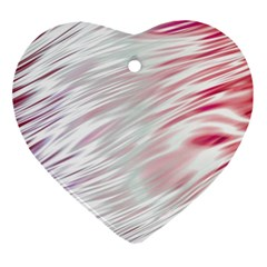 Fluorescent Flames Background With Special Light Effects Ornament (heart)