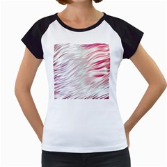 Fluorescent Flames Background With Special Light Effects Women s Cap Sleeve T
