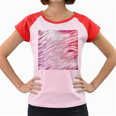 Fluorescent Flames Background With Special Light Effects Women s Cap Sleeve T-Shirt