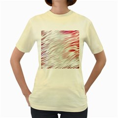 Fluorescent Flames Background With Special Light Effects Women s Yellow T-Shirt