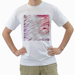 Fluorescent Flames Background With Special Light Effects Men s T-Shirt (White) (Two Sided)