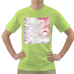 Fluorescent Flames Background With Special Light Effects Green T-Shirt