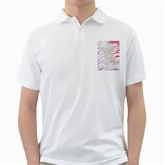 Fluorescent Flames Background With Special Light Effects Golf Shirts