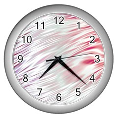 Fluorescent Flames Background With Special Light Effects Wall Clocks (silver)