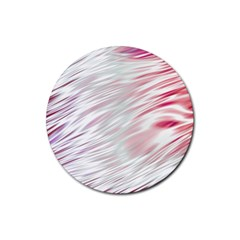 Fluorescent Flames Background With Special Light Effects Rubber Round Coaster (4 Pack)