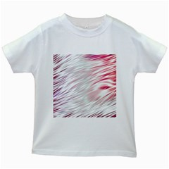 Fluorescent Flames Background With Special Light Effects Kids White T-Shirts