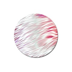 Fluorescent Flames Background With Special Light Effects Magnet 3  (Round)