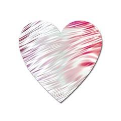 Fluorescent Flames Background With Special Light Effects Heart Magnet