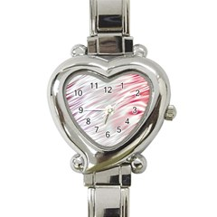Fluorescent Flames Background With Special Light Effects Heart Italian Charm Watch