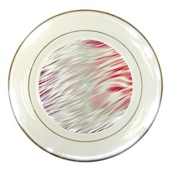 Fluorescent Flames Background With Special Light Effects Porcelain Plates