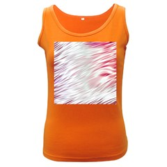 Fluorescent Flames Background With Special Light Effects Women s Dark Tank Top