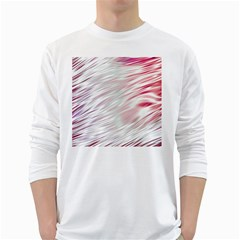 Fluorescent Flames Background With Special Light Effects White Long Sleeve T Shirts