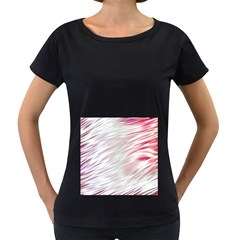 Fluorescent Flames Background With Special Light Effects Women s Loose Fit T Shirt (black)