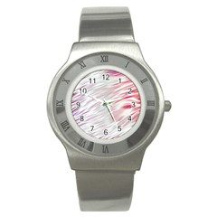 Fluorescent Flames Background With Special Light Effects Stainless Steel Watch