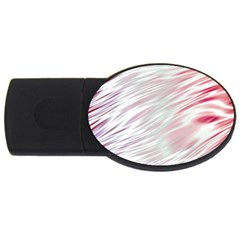 Fluorescent Flames Background With Special Light Effects Usb Flash Drive Oval (4 Gb)