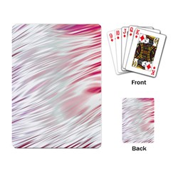 Fluorescent Flames Background With Special Light Effects Playing Card