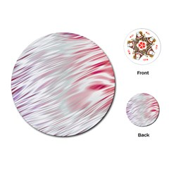 Fluorescent Flames Background With Special Light Effects Playing Cards (Round)