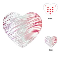 Fluorescent Flames Background With Special Light Effects Playing Cards (Heart)