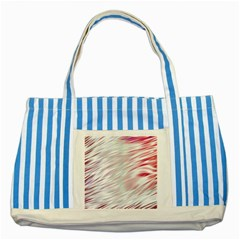 Fluorescent Flames Background With Special Light Effects Striped Blue Tote Bag