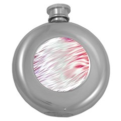 Fluorescent Flames Background With Special Light Effects Round Hip Flask (5 Oz)