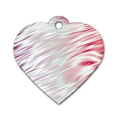 Fluorescent Flames Background With Special Light Effects Dog Tag Heart (two Sides)